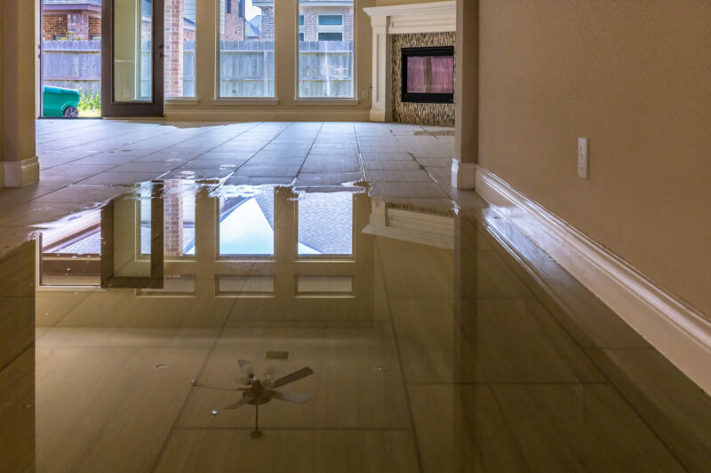 water damage floor